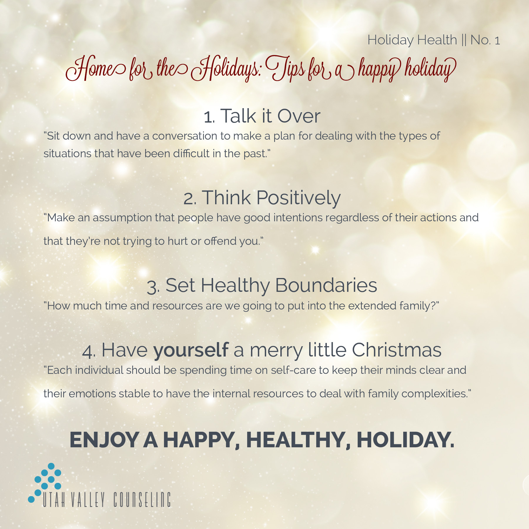 Holiday Tips for Family Events - Happy Holidays with Family